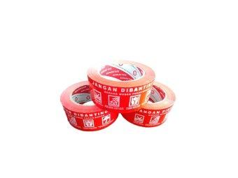 Harga Daimaru Lakban Fragile Isolasi Jangan Dibanting - Merah - Bundle Pack 3 pcs
