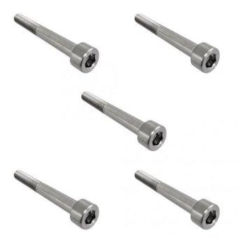 BolehDeals 5pcs M6*50 Titanium Alloy GR5 TC4 Hexagon Cap Head Socket Allen Key Screws - intl