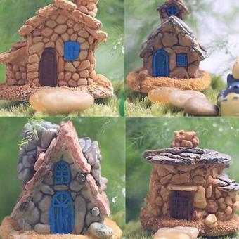 Micro Stone House Fairy Garden Yard Miniature Craft Landscape Lawn Decoration - intl