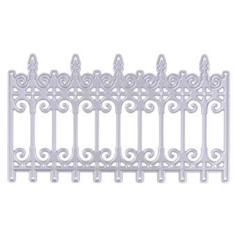 Desain pagar besi pintu mati pemotongan meninggal stensil diseduh sendiri buku tempel timbul - Internasional