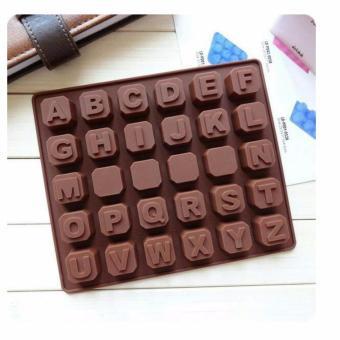 Cetakan Silicone Huruf Abc Abjad Alphabet Alfabet Coklat Kue Es - Coklat