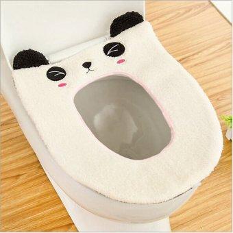 Harga gambar lucu toilet duduk menutupi alas bantalan kursi yang nyaman (putih)