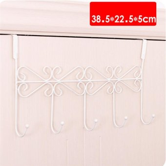 5 hooks Creative Rotatable Coat Hooks Multi Clothes Hangers Hooks Door(Black)