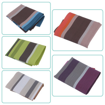 Christmas Placemats PVC Placemat Bar Mat Heat-insulated Tableware Mat Set Kitchen Hot Pads Home Table Decoration Accessories - intl