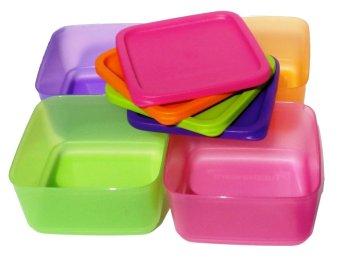 ... Harga Tupperware Small Summer Fresh Wadah Tempat Makan Pink Orange Hijau Ungu