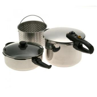 GPL/ Fagor Duo Combi 5-Piece Pressure Cooker Set/ship from USA - intl