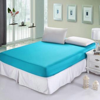 Alona Ellenov Sarung Kasur Set Waterproof (Tinggi 20cm ) Warna Biru Muda