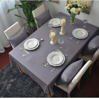 100*140cm 1-Piece Cotton Solid Color Purple Table Cloth Rectangle Tablecloth For Dining Table Thick Table Cover Customizable
