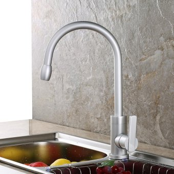 high qualityStylish kitchen sink, 360-degree rotating taps, space aluminium, plated faucets, corrosion - intl
