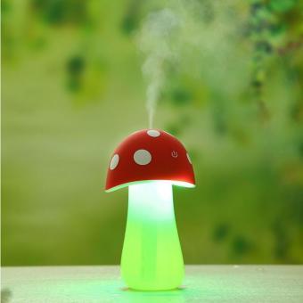Universal Mushroom Night Light Air Humidifier Aroma Therapy - Merah