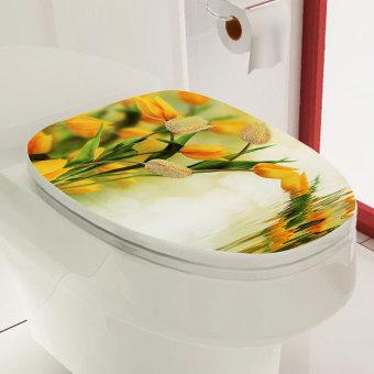 Harga Tutup penutup toilet duduk stiker vinil PVC dibetulkan dekorasi dinding kamar mandi