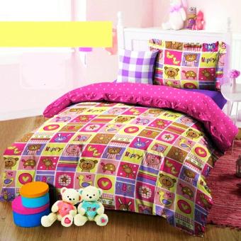 Alona Ellenov Sarung Bantal Sofa Katun Motif Toy World – Pink