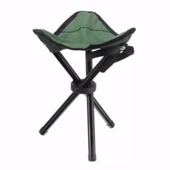 Kursi Duduk Lipat Sutradara Bentuk Segitiga 3 Kaki Unik Foldable Chair - HIJAU