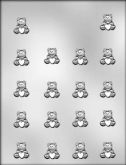 CK Products Itty Bitty Bear with Heart Chocolate Mould - intl