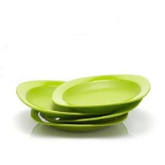 Tupperware Blossom Plate ( 4pcs ) - Hijau