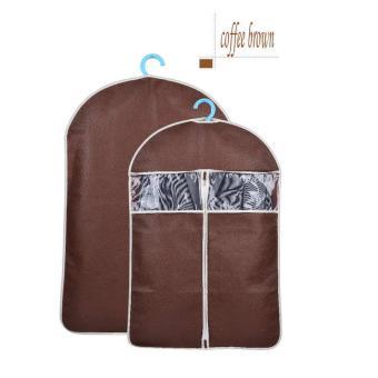 2pcs/lot 60*88cm Clothes Dustproof Bag Cover(Brown S) - intl