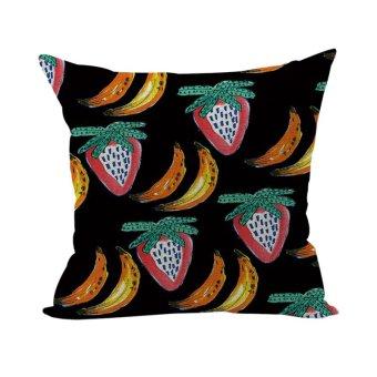 Nunubee Super Soft Pillowcase Cotton Cushion Cover Square Decorative Home Accessories Colorful Fruit