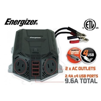 39.97 Deal ends 4-15-17 ENERGIZER 500 Watt Power Inverter +48W USB 12V DC to AC + 4 x 2.4A USB charging ports Total 9.6A - intl