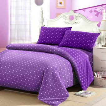 Jaxine Sprei Tinggi 25cm Motif Polkadot Warna Lilac Purple