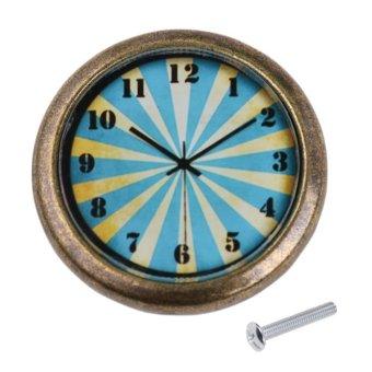 pegangan laci tombol penarik Jam antik pintu kabinet -roda keberuntungan #2