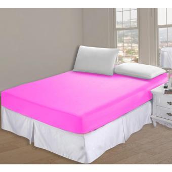 Alona Ellenov Sarung Kasur Waterproof (Anti Air) Warna Pink Uk 180x200x25cm - Pink