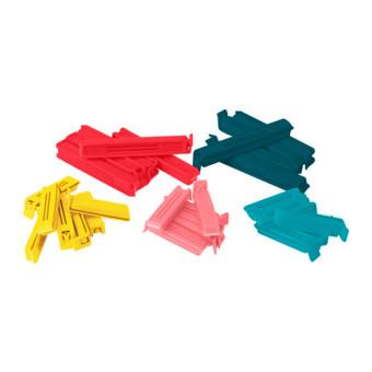 Ikea Bevara Klip penutup plastik, set isi 30, aneka warna, berbagai ukuran