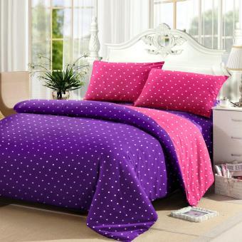 Jaxine Sprei Tinggi 30cm Motif Polkadot Warna Purple Pink