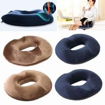 Memory Foam Hemorrhoid Treatment Ring Donut Travel Support Seat Cushion Pressure Mocha Women - intl