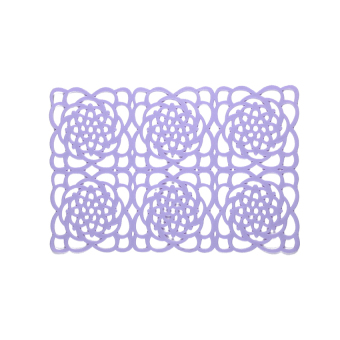 HL Tailorable Antislip Silicone Trivets / Pot Holder / Coaster /Placemat / Hot Pad (Purple) - intl