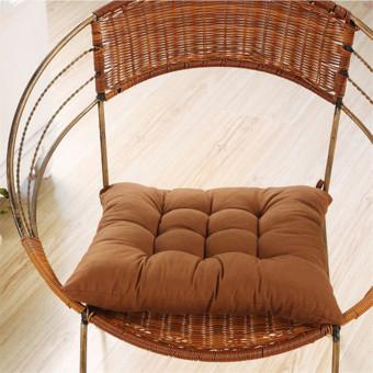 Soft Handmade Square Dining Chair Seat Pad Filled Ties Cushion Decor 35 x 35cm- intl