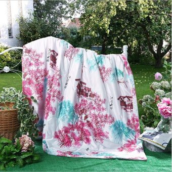 Modern fashion environmental health cool summer tencel quilt 240 * 220cm - intl