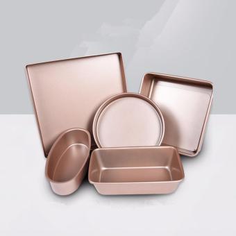 Golden Nonstick Bakeware 5-Piece Baking Pan Set - intl