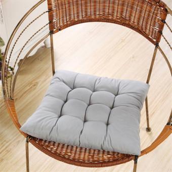 Soft Handmade Square Dining Chair Seat Pad Filled Ties Cushion Decor 35 x 35cm - Intl
