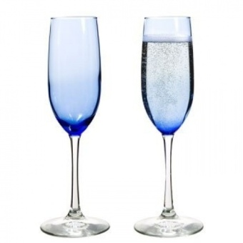 The Boutique Famous-maker Cobalt Blue Glass Champagne Flutes, 240ml - intl