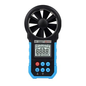 Eam02 Professional 1.7&quot. LCD Wind Speed Meter w/ Wind FlowTest - Black + Blue Bside - intl