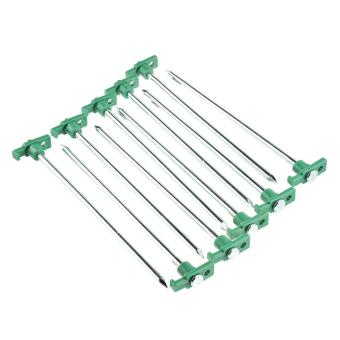 yiokmty Heavy Duty Tent Pegs T Non-Rust Stakes With Green Stoper - intl