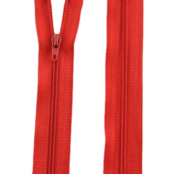 Dress Zips Nylon Metal Closed Open Ended 10Pcs Red - intl