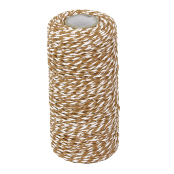 100M Wrap Gift Cotton Rope Ribbon Twine Rope Cord String Coffee, White