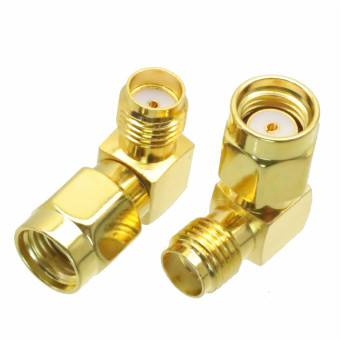 Fliegend 10pcs Adapter RPSMA male jack to SMA female jack right angle RF COAXIAL