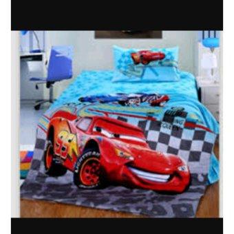 Selimut flanel halus Cars karakter 3D kualitas import(ukr 150x200)