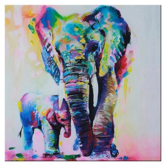 WONDERSHOP Home Wall Art Painting Picture Multicolored Elephant Canvas Print Hanging Picture HD Unframed Decor - intl