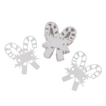 BolehDeals 50 Table Glass Name Place Card Xmas Decor Party Laser Cut Candy Canes Shape
