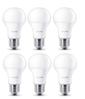 Philips LED Bulb 6W A60 - Putih - 6 Buah