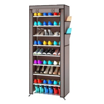 Harga Sonia Rak Sepatu 10 Tingkat dengan Penutup Debu - Shoe Rack 10 Layers with Dust
