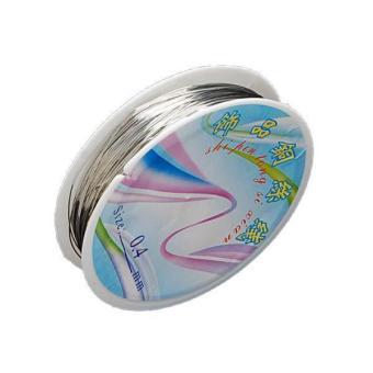 Roll Silver Plated Copper Wire 26ga/20yd