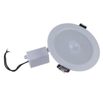 Zhouda AC85-265V 5W PIR Infrared Motion Sensor 12 LEDs Lamp LightBulb Warm White - intl