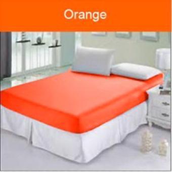 Sprei Waterproof/Anti Air 180x200x20cm+Bantal Guling Warna Orange