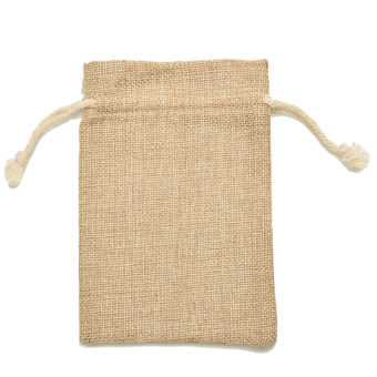 HomeGarden Mini Tie Bag Burlap Wedding Party Favor 20*30cm 5Pcs