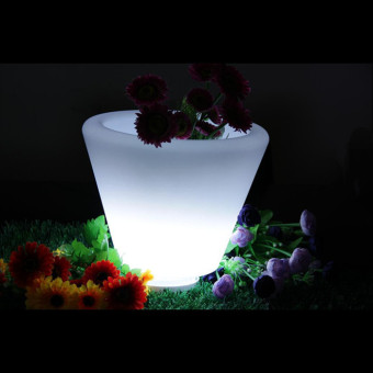 Remote Control Led Flower Pots Lights D28xh29cm Planters Light Rgb Color Waterproof Outdoor Garden Lighting Decoraion Christas New Year