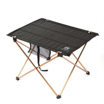 Harga OH Oxford Fabric Folding Table Desk Camping Outdoor Picnic 7075 Aluminium Alloy Black